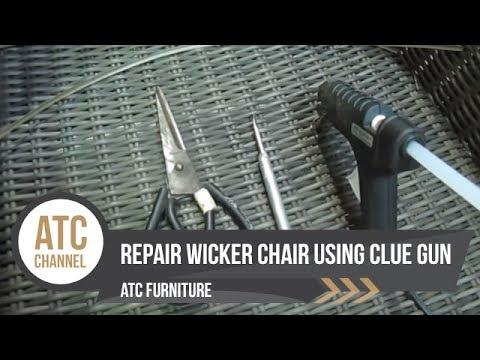 How to Repair Wicker Chair using Glue Gun ATC Furniture 2017