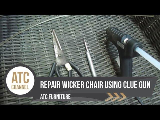 How To Repair Resin Wicker Chairs Using, Plastic Rattan Garden Furniture Repair Kit