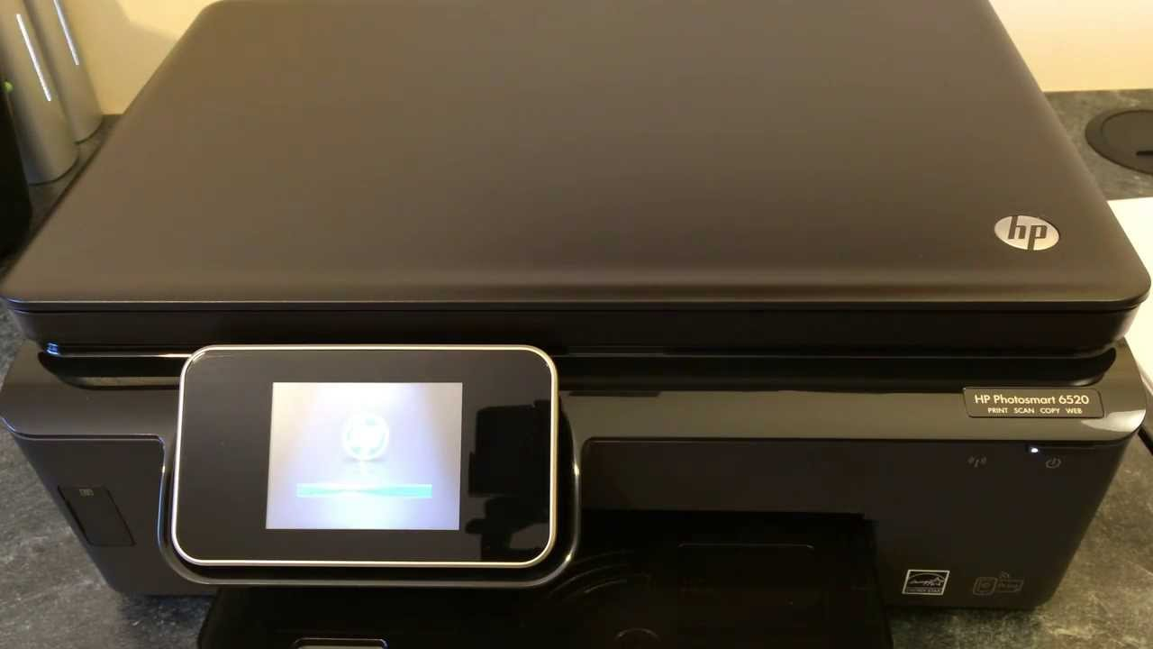 Hp Photosmart 6520 Printer Unboxing Amp Setup Youtube