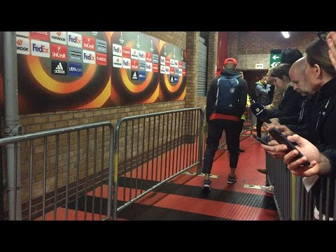 Marcos Rojo Limps Through The Old Trafford Mixed Zone