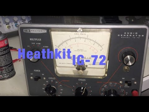 Heathkit Audio Generator IG-72 PART 4 - Performance Testing