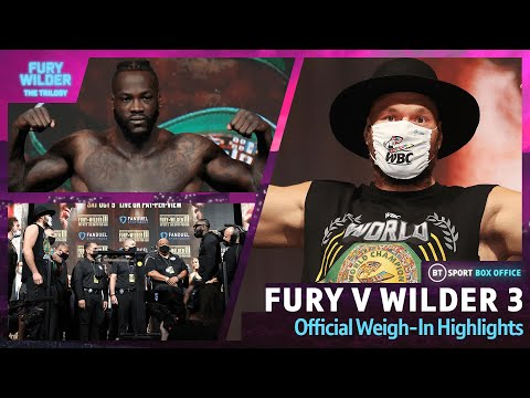 Tyson Fury vs Deontay Wilder 3 | Weigh-In Highlights