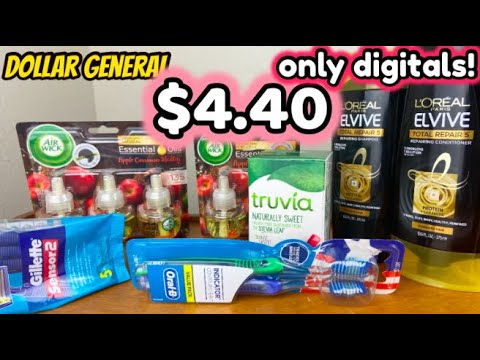 $4.40 DOLLAR GENERAL HAUL! ONLY DIGITAL COUPONS!