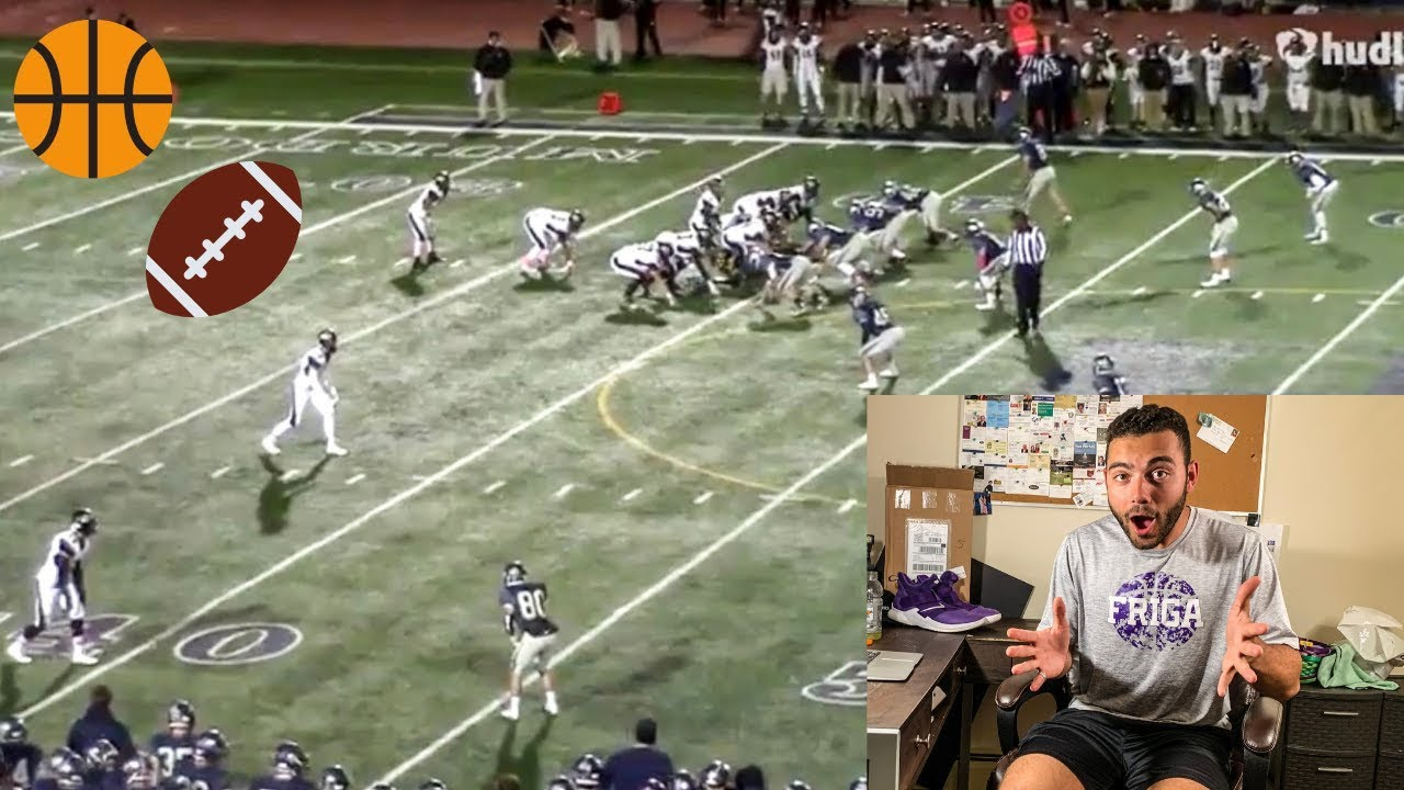 D3 Basketball Player REACTS TO High School Football ...