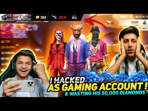 Deleting A_S Gaming Account ID Hack Prank And Wasting 20,000 Diamond's Garena free fire