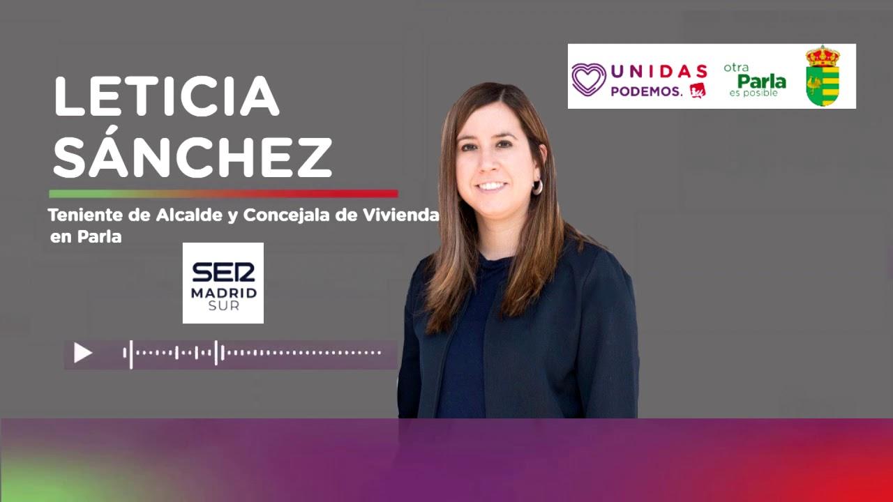 Entrevista a Leticia Sánchez en LA SER: «Parla ha paralizado el 90% de los desahucios programados»