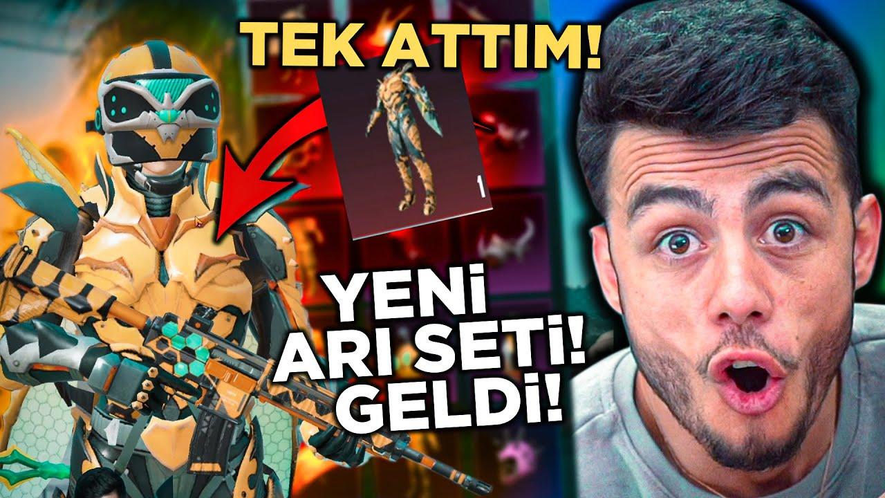 YENİ GELEN ARI SETİNE TEK ATTIM !! ( HERŞEYİ ÇIKARDIK ) - PUBG Mobile