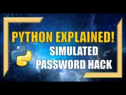 Python: Creating and Simulating a PASSWORD HACK!!!