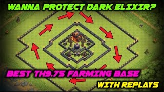 Th9.75 Best Farming Base with Replays | Dark Saviour | Clash of Clans