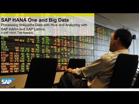 Analyzing Wikipedia data with SAP HANA One and SAP Lumira Overview video
