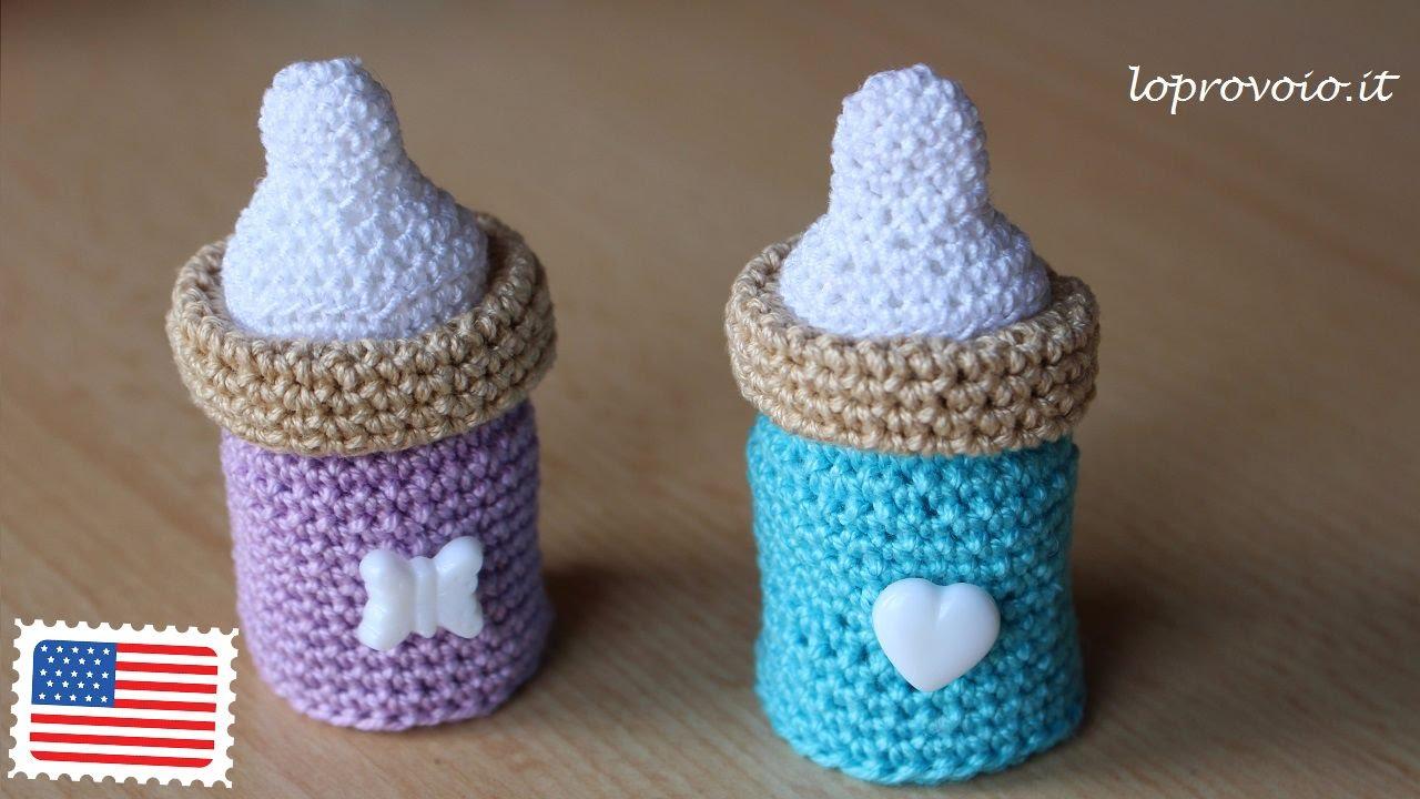 Crochet baby bottle - YouTube