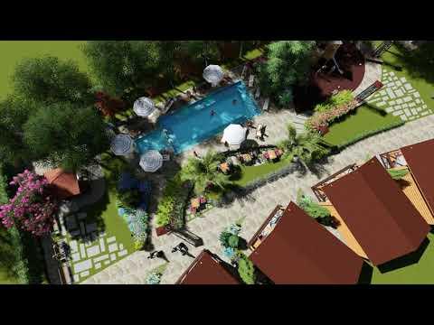 Зона отдыха у бассейна