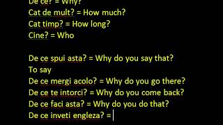 Engleza ABC incepatori WH Questions - Lectia 14