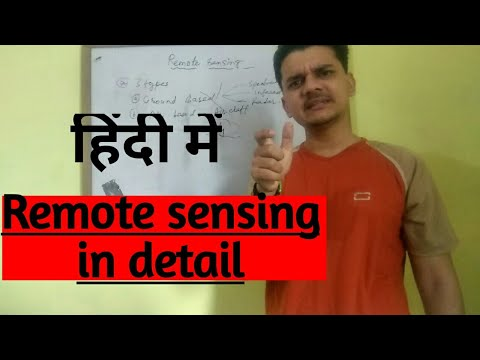Remote sensing in detail in hindi (हिंदी में) ..  Introduction to Remote sensing..