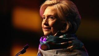 Hilary Clinton gives a speech at The Atlantic Festival Partnership
