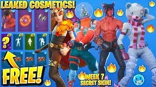 *NEW* All Leaked Fortnite Skins & Emotes..! *FREE Christmas REWARDS* (Dominion, Glove Shaker, Razor)