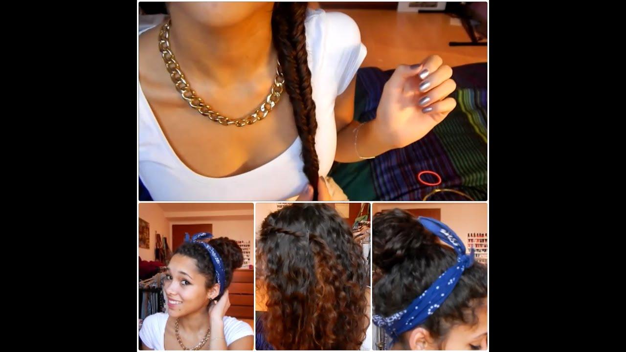 3 Einfache Frisuren Für Locken !!! ♥ YouTube