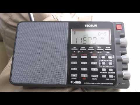 Radio Habana Cuba - Tecsun PL-880 - 11670 KHZ - 00:45 UTC