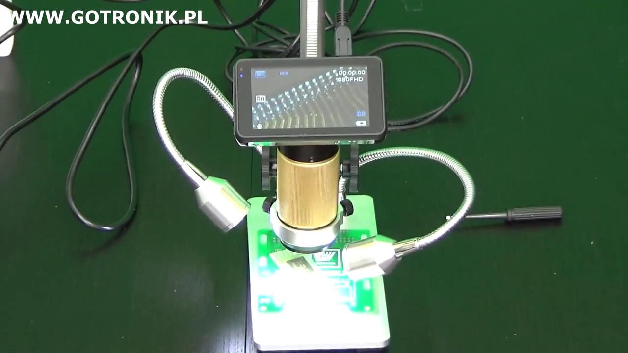 Mikroskop cyfrowy andonstar adm201 lcd hdmi usb full hd [cz.3] youtube