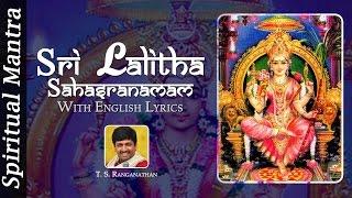 Sri Lalitha Sahasranamam - Lalitha Sahasranamam by T. S. Ranganathan