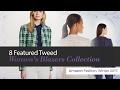 8 Featured Tweed Women's Blazers Collection Amazon Fashion, Winter 2017