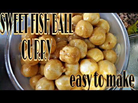 SWEET CURRY FISH BALLS/EASY TO MAKE