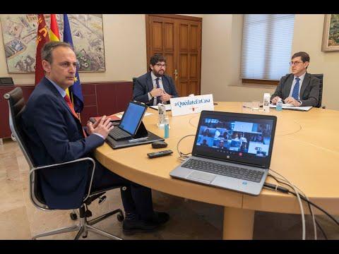 López Miras pide al Estado que prohíba toda actividad «no imprescindible para la supervivencia»