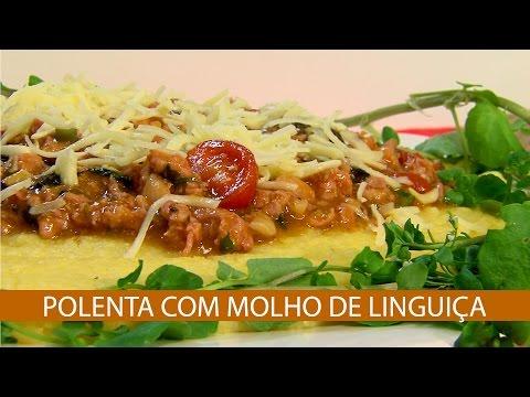 POLENTA COM MOLHO DE LINGUIÇA