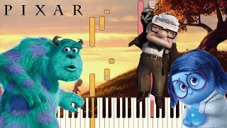 Gambar cover 6 Sad Pixar Themes (That Will Make You Cry) | Piano Tutorial (Synthesia)