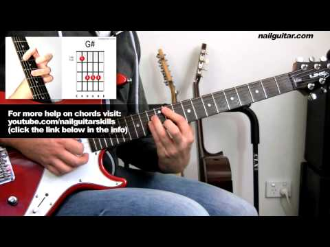 How to play Na Na Na - My Chemical Romance - Guitar Lesson pt.2 - Chords Intermediate