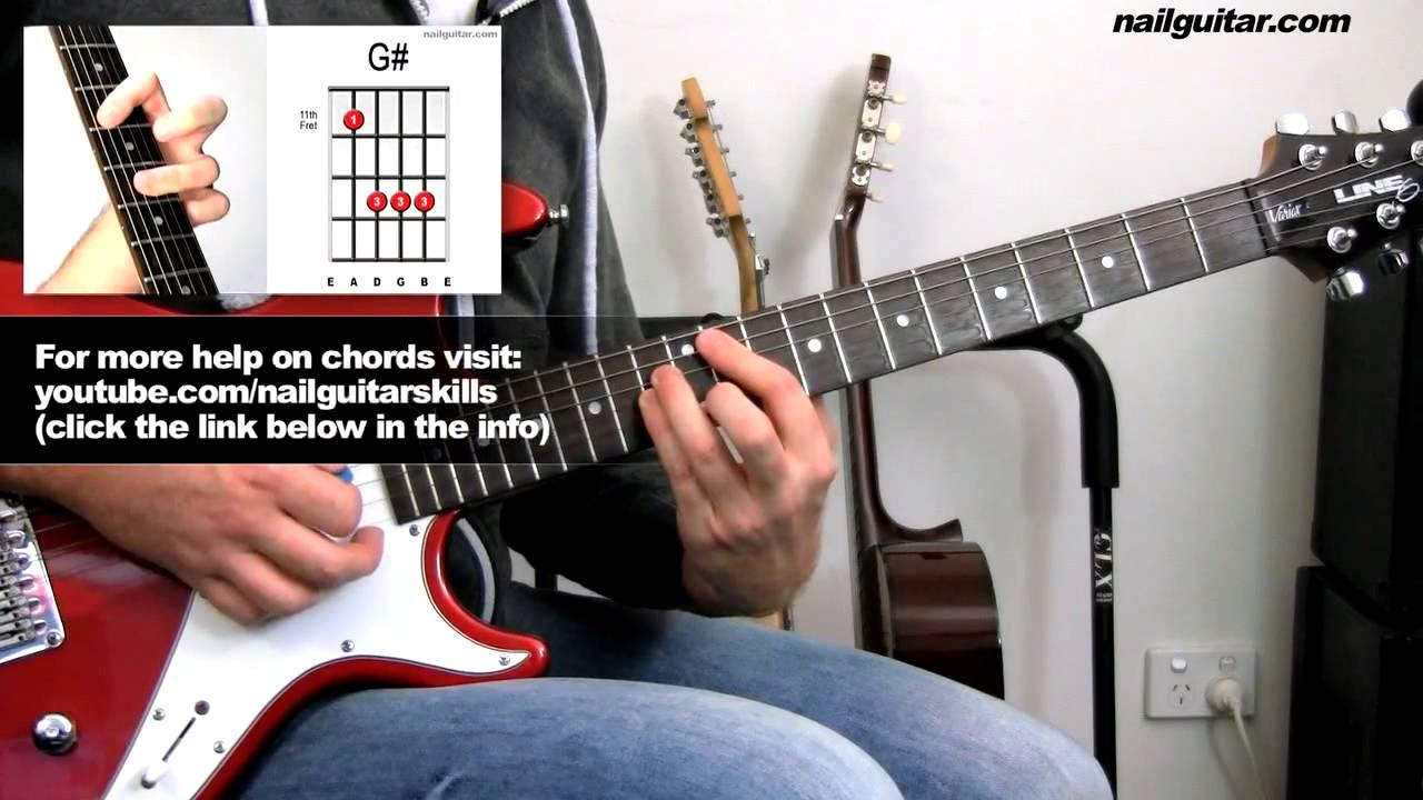 Guitar lesson chords