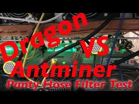 Antminer S9 Vs Dragonmint T1 Newest Bitcoin ASIC Mining Hardware 2018-Panty Hose Filter Test!