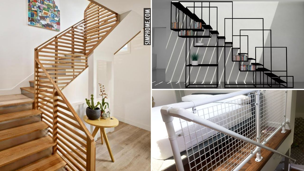 20 Awesome Stair Railing Design Ideas and DIY