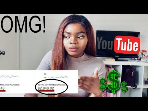 My first YouTube check ?  How much SMALL YouTubers make ?