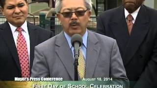 Mayor Lee Celebrates First Day of School