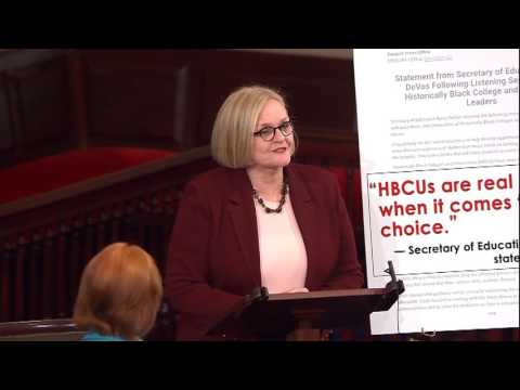 McCaskill: Shame on DeVos for trying to shoehorn History of Historically Black Colleges...