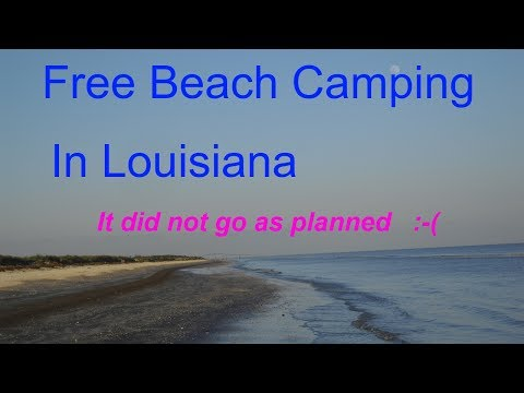 Free Beach Camping - Rutherford Beach Creole Louisiana
