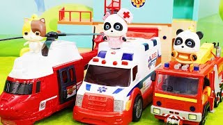 Fire Safety with Super Rescue Team | Fireman Toys | Doctor Cartoon | Fire Truck, Firefighters#ToyBus