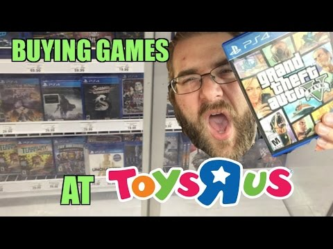 BUYING PS4 GAMES AT TOYSRUS! Grims Toy Show gets GTA5