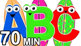 Surfin' the ABCs | Teach ABC Songs, Learn the Alphabet, 3D Baby Learning Rhymes by Busy Beavers