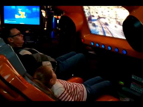 Dave Buster S Roller Coaster Youtube
