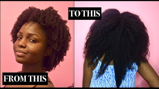 STRETCHING 4C HAIR TO RETAIN LENGTH WITH AFRICAN THREADING