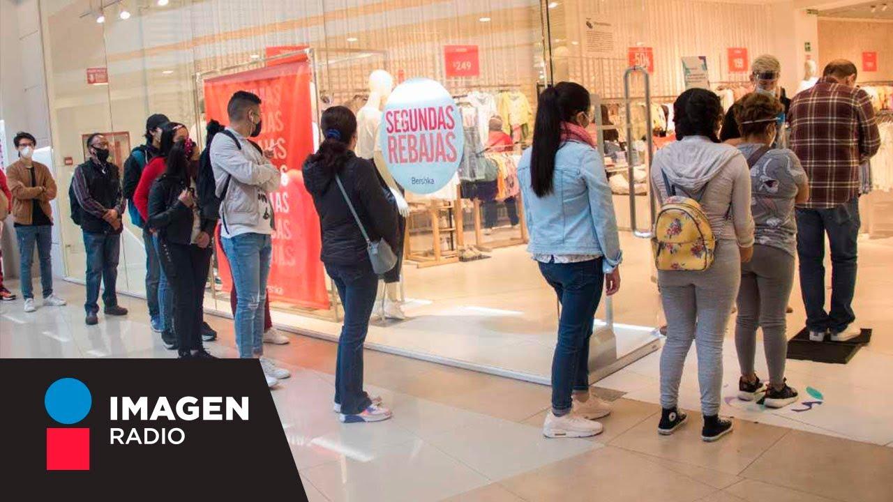 Extensas filas en reapertura de centros comerciales I La Sobremesa