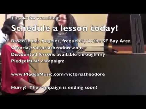 Piano Lessons, Music Lessons with Victoria Theodore - LA, SF Bay Area or Skype
