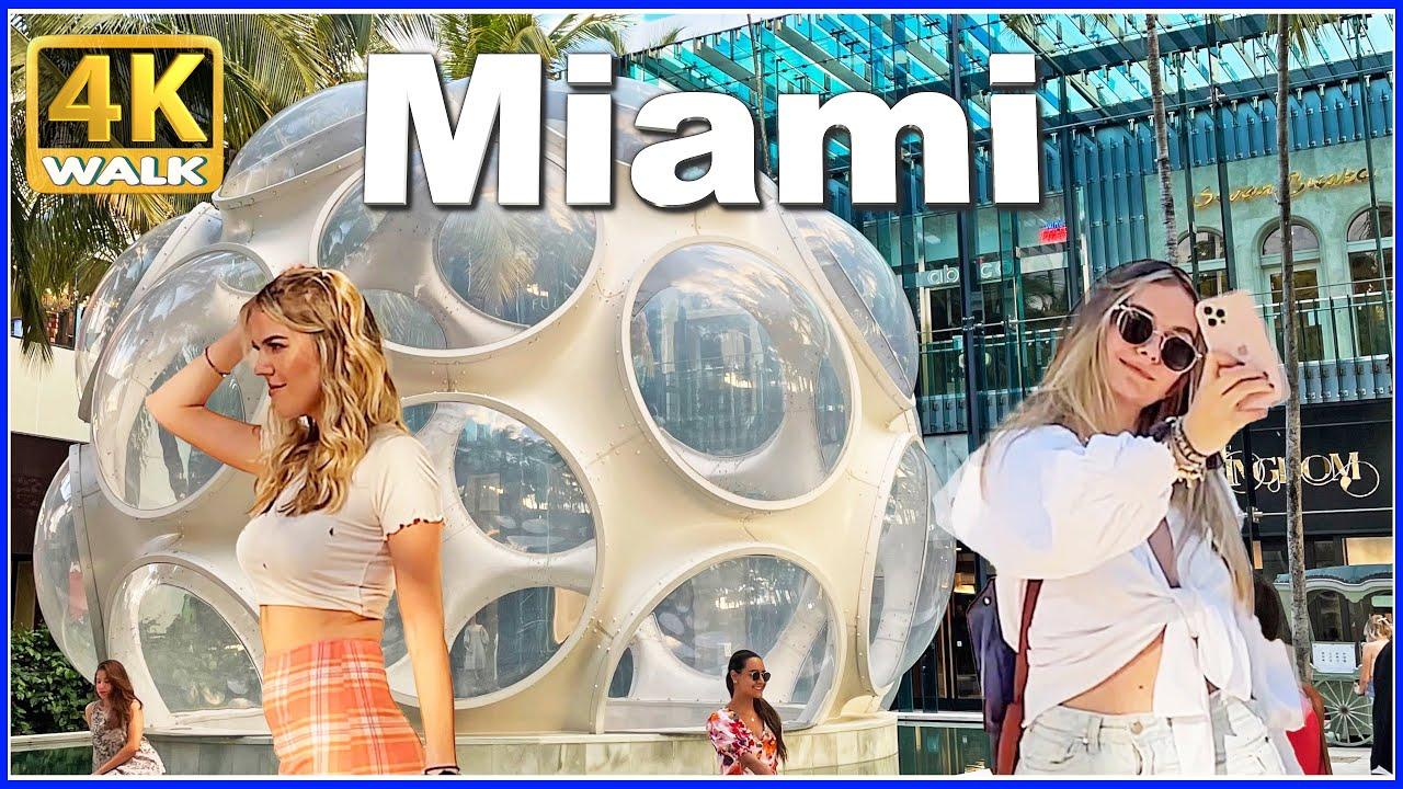 【4K】WALK MIAMI Midtown Sunset Florida 4k video Travel vlog