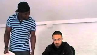 ADAM DEACON DIRECTING/REHEARSING WITH TYRONE IN ANUVAHOOD