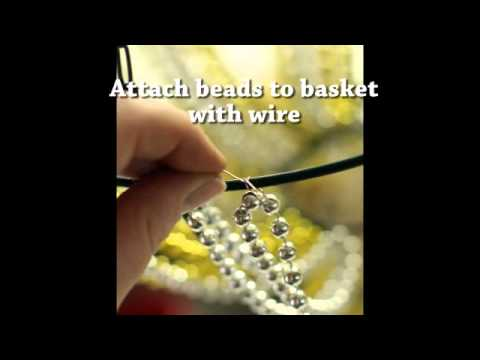 Make a beaded chandelier for 10 youtube aloadofball Image collections