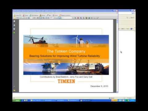 Better Bearings for Wind Turbine Reliability (Webinar)