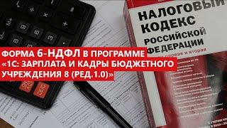 Новая форма 6-НДФЛ в программе 1С:Зарплата и кадры бюджетного учреждения