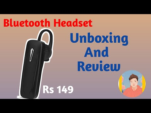 fbd08e3d841 Robotek Bluetooth Headset Review And Unboxing - YouTube